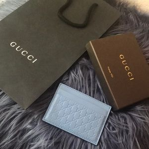 Gucci monogram card case